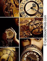 tempo, colagem