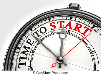 tempo, cominciare, concetto, orologio