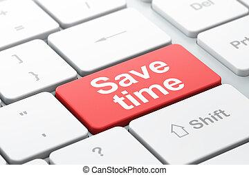 tempo, computer, fondo, tastiera, risparmiare, concept: