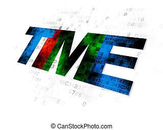tempo,  concept:, fundo,  digital