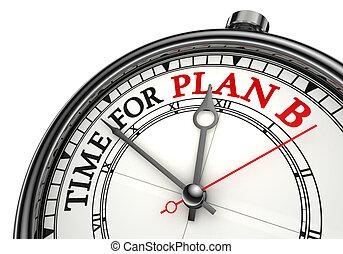 tempo, concetto, b, piano, orologio
