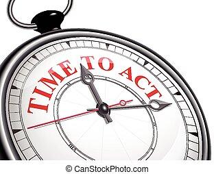 tempo, concetto, orologio, atto
