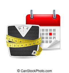 tempo, dieta, ícone