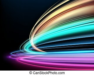 tempo, effetto, colorito, isolato, lungo, movimento, piste, offuscamento, luce, esposizione