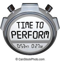 tempo, eseguire, cronometro, timer, orologio, azione, needed