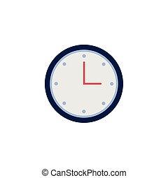 tempo, estilo, apartamento, relógio, ícone