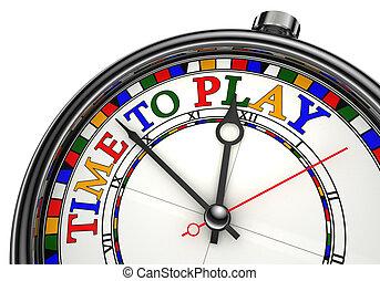tempo giocare, concetto, orologio