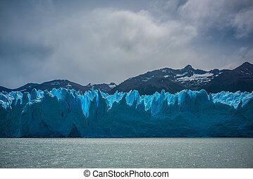 tempo, glacier., shevelev., nuvoloso, sopra