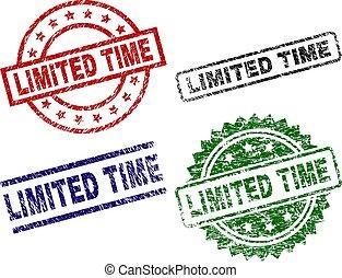 tempo, grunge, textured, francobolli, sigillo, limitato