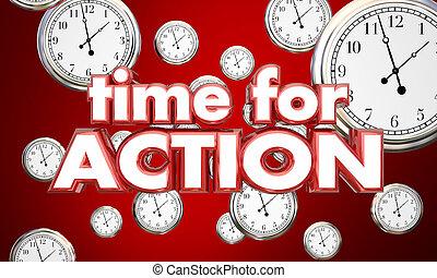 tempo, illustrazione, clocks, atto, azione, promemoria, ora, 3d