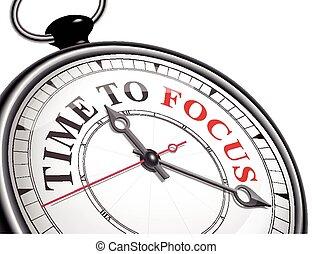 tempo, mettere fuoco, concetto, orologio