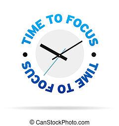 tempo, mettere fuoco, orologio