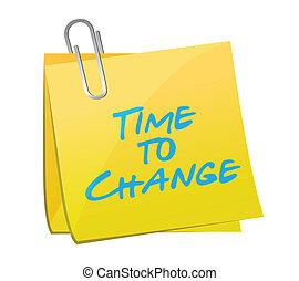 tempo, mudança, ilustração, poste