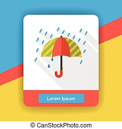 tempo, ombrello, appartamento, icona