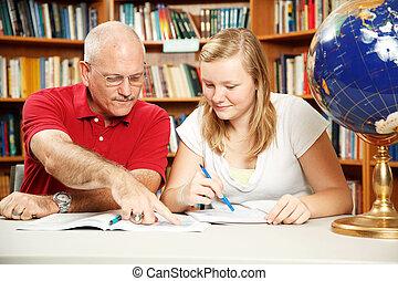 tempo, padre, figlia, studio