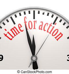 tempo, para, ação, relógio