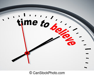 tempo, para, acreditar