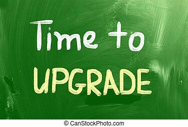 tempo, para, actualização, conceito