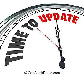 tempo, para, actualização, palavras, relógio, renovate,...