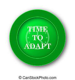 tempo, para, adaptar, ícone