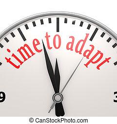 tempo, para, adaptar, relógio