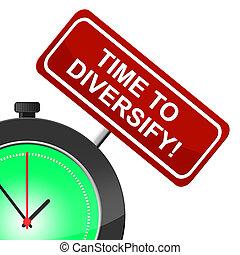 tempo, para, diversificar, representa, em, a, momento, e, diversificação