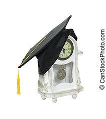 tempo, para, graduação