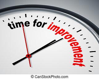 tempo, para, melhoria