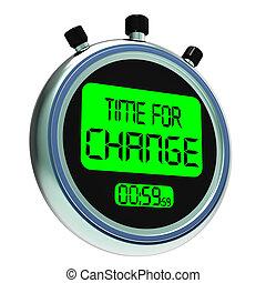 tempo, para, mudança, mostrando, estratégia