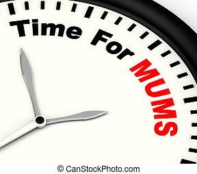 tempo, para, mum, mensagem, significado, mães, partir