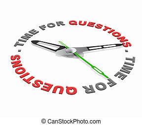 tempo, para, perguntas