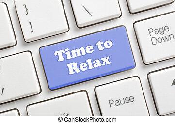 tempo, para, relaxe, tecla, ligado, teclado
