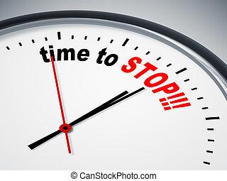 tempo, parar