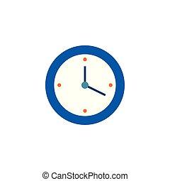 tempo, parede, estilo, apartamento, relógio, ícone