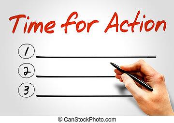 tempo, per, azione