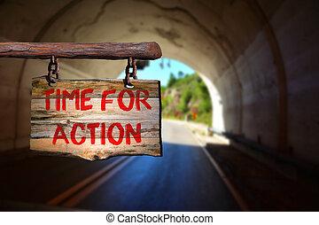 tempo, per, azione, segno