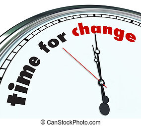 tempo, per, cambiamento, -, ornare, orologio