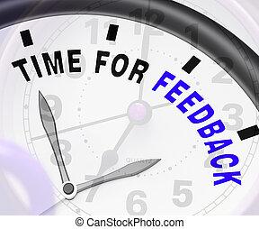 tempo, per, feedback, esposizione, opinione, valutazione, e,...