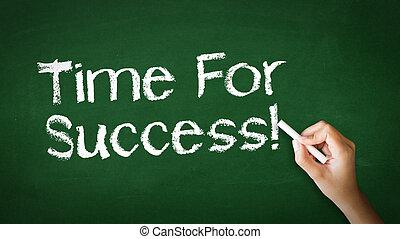 tempo, per, successo, gesso, illustrazione