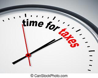 tempo, per, tasse