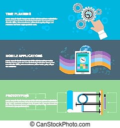 tempo, planificação, móvel, app, prototyping, conceito, jogo