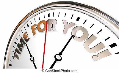 tempo, por si, relógio, apreciar, vida, seu, momento, agora, 3d, ilustração