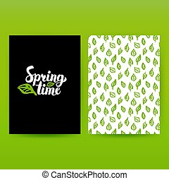tempo primaverile, verde, manifesto