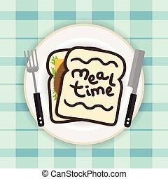 tempo refeição