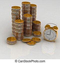 tempo, soldi, concetto