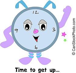 tempo, sveglia, su, ottenere