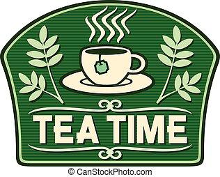 tempo tè, etichetta