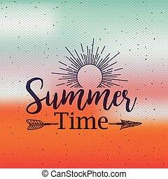 tempo verão, desenho