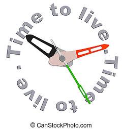 tempo, viver