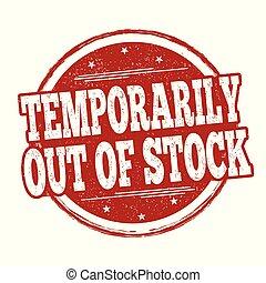 temporairement, timbre, signe, dehors, ou, stockage